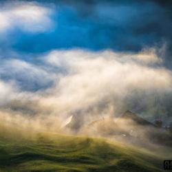 Passwang Nebel Bauernhof